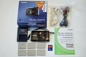 Canon PowerShot SX230 HS digital camera GPS 1080p Travel Zoom
