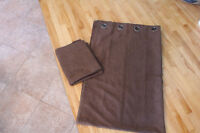 2 Beautiful Brown curtain 54 by 84, 100% Polyester