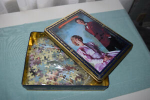 Collectible Tin and Puzzle (Royal Family)