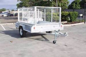 Heavy Duty Galvanized Single Axle Box Trailer (8*5) Coopers Plains Brisbane South West Preview