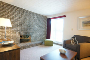 Great 2 bedroom with balcony and fireplace near Trout Lake