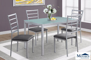 Brand NEW Silver Metal Dinette Set! Call 306-347-3311!