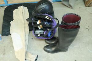 équipement pour faire équitation