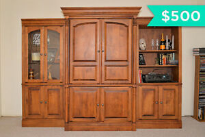 Beauty LARGE Wall Unit with TV section and Display