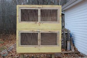 1 Pair of Brooder/Poultry Cages with Stand