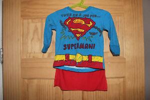Boys 12 Month Superman Shirt + Cape Clean Adorable