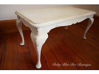 White Vintage Coffee Table French Ornate Shabby Chic
