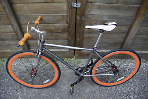 SINGLE SPEED orange Acier monte a neuf