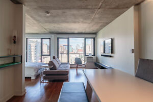 Fully Furnished Condo with City View at Le Seville Downtown MTL