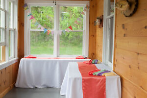 White Table Linens - prices are cheaper than renting