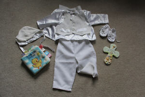 Boys baptismal outfit 6 months baptism cross and soft baby book