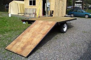 ATV - SLED TRAILER WITH PULL OUT RAMP. DECK 8'X11'