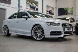 Audi S3 2.0 TFSI Quattro Saloon, 14 Reg, 20k, Ibis White, Massive Spec, Nav, B&O
