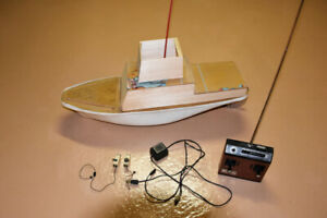 Radio Controlled Boat With vintage Heathkit Remote Controller