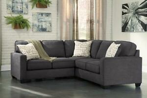 *** USED *** ASHLEY ALENYA CHARCOAL SECTIONAL S/N:51184608 #STORE532