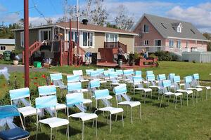 Lot de chaises empilables (qte 35)