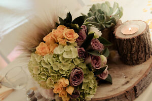 Wedding decor for sale - wood candleholders and other items