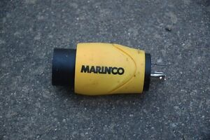 MARINCO EEL-Style ShorePower Straight Adapter, 20A M-30A F