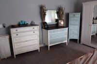French provincial, vintage, rustic and shabby chic dressers!