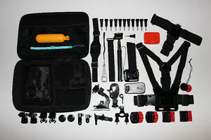 40X GOPRO-ENSEMBLE QUALITÉ-COMPLET/FULL ACCESSORIES-QUALITY KIT 40PCS (NEUF/NEW) [VOIR/SEE DESCRIPTION] (C019)