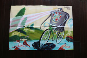 "Cinelli 2012 fold-out poster / catalogue 19"" x 27"""