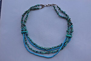 New genuine turquoise necklace Interesting design, combination o