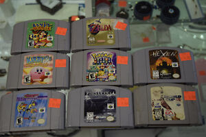 Lots of Nintendo 64 Games in Stock all Tested