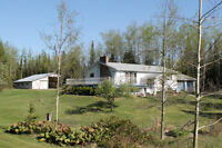 Beautiful Home on 2.5 acres, with detached 40' x 60' garage