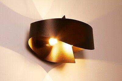 Lampada da parete metallo color bronzo marron applique da corridoio design 67815
