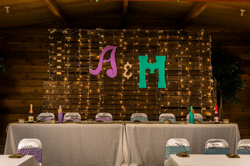 Wooden Pallet Wedding Backdrop