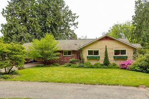 Rancher on Beautiful 3 Acres in East Maple Ridge
