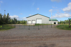 Warehouse For Lease Gated, 2 drive-thru doors, 3 loading doors