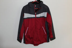 BOYS LINED FALL JACKET WITH ATTACHED HOODIE