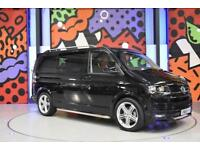 2016 VW TRANSPORTER T6 T32 2.0TDI 204PS HIGHLINE KOMBI LV SPORTLINE PACK BLACK