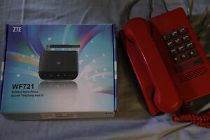 Wireless Homephone with red phone