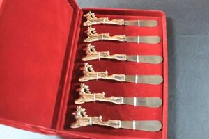 6 Christmas Reindeer cheese butterspreader knives Rudolph & More Kingston Kingston Area image 5