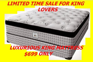 KING MATTRESS CONTINUOUS COILS EUROTOP GREAT LUXURY $699 ONLY♥♥♥