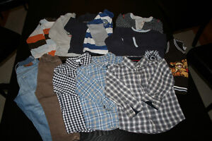 Lot of winter clothes for boy