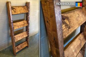 Rustic Handmade Blanket Ladder