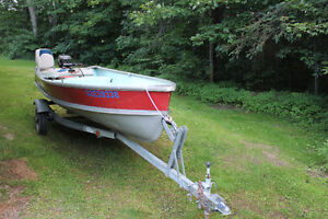 For Sale: 14' Aluminum boat, 10HP outboard, trailer