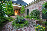 Landscaping, Garden design, Water features, Pruning, Sod