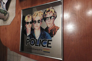 RARE THE POLICE SYNCHRONICITY LP Record Sized Licensed Mirror