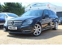 2011 61 MERCEDES-BENZ C CLASS 2.1 C220 CDI BLUEEFFICIENCY SPORT 5D 168 BHP DIESE