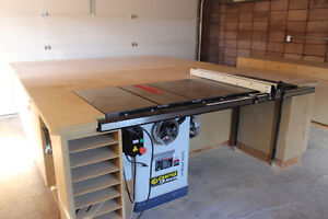 Cabinet Table saw 10in 3hp w 50 in rail Model CX201 Craftex