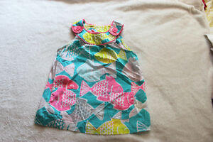 Girls Colourful Fish Shirt - size 24 mos.- CARTER'S