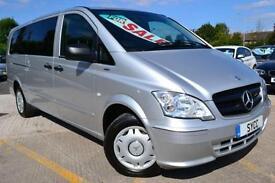 2012 Mercedes Benz Vito 113 CDI Traveliner Extra Long 8 Seat Mini Bus 5 door ...