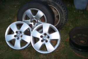 vw rims  tires   195x65x15  bolts  5x100