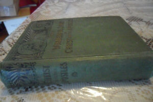 Antique 1896 life of the christ with full page illustrations