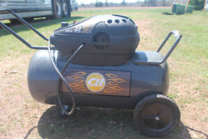 22gal Air compressor like new condition with reel and hose