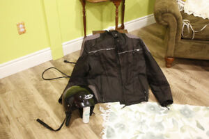 motorcycle helmut and jacket